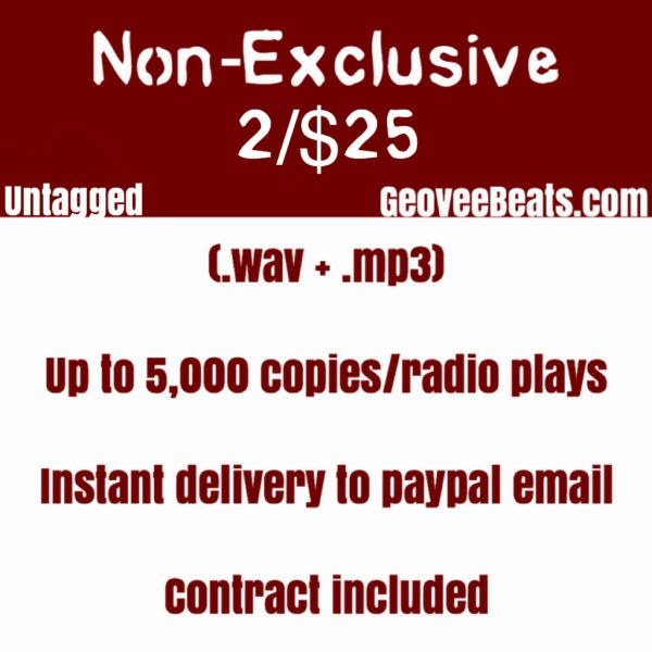 Geovee Beats Non Exclusive beat sale untagged wav mp3 photo services flyer GeoveeBeats