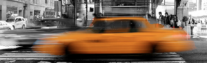 Geovee Beats yellow cab zooming by in n.y.c new york city times square services