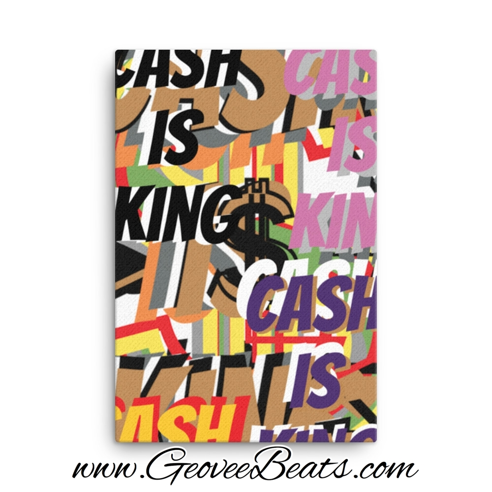 Cash is King Random Artwork Canvas Art For Sale