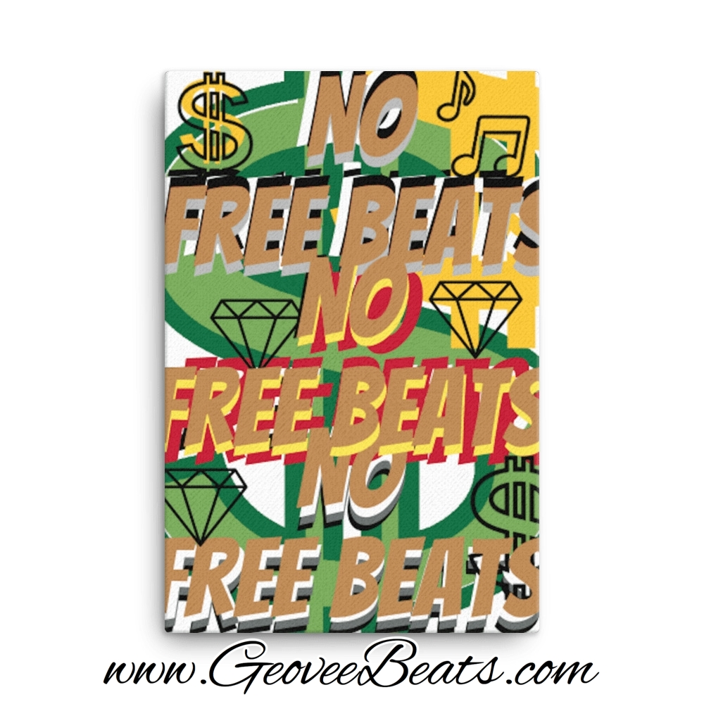 Gold No Free Beats Dollar Artwork Canvas Art For Sale