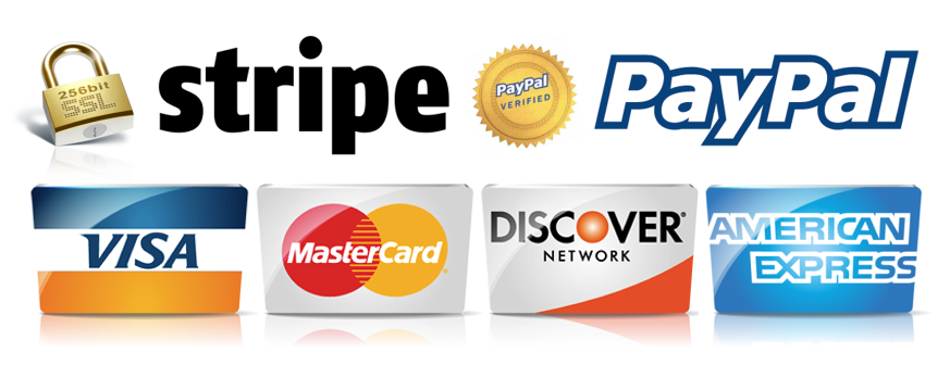 stripe-paypal GeoveeBeats we accept credit cards