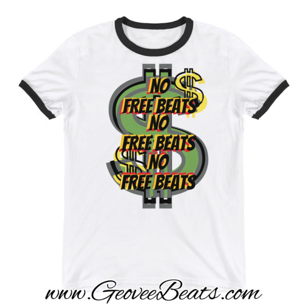 no free beats ringer t-shirt
